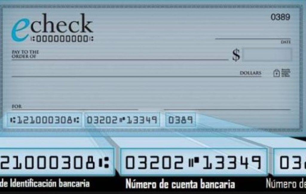 Se viene el cheque electrónico