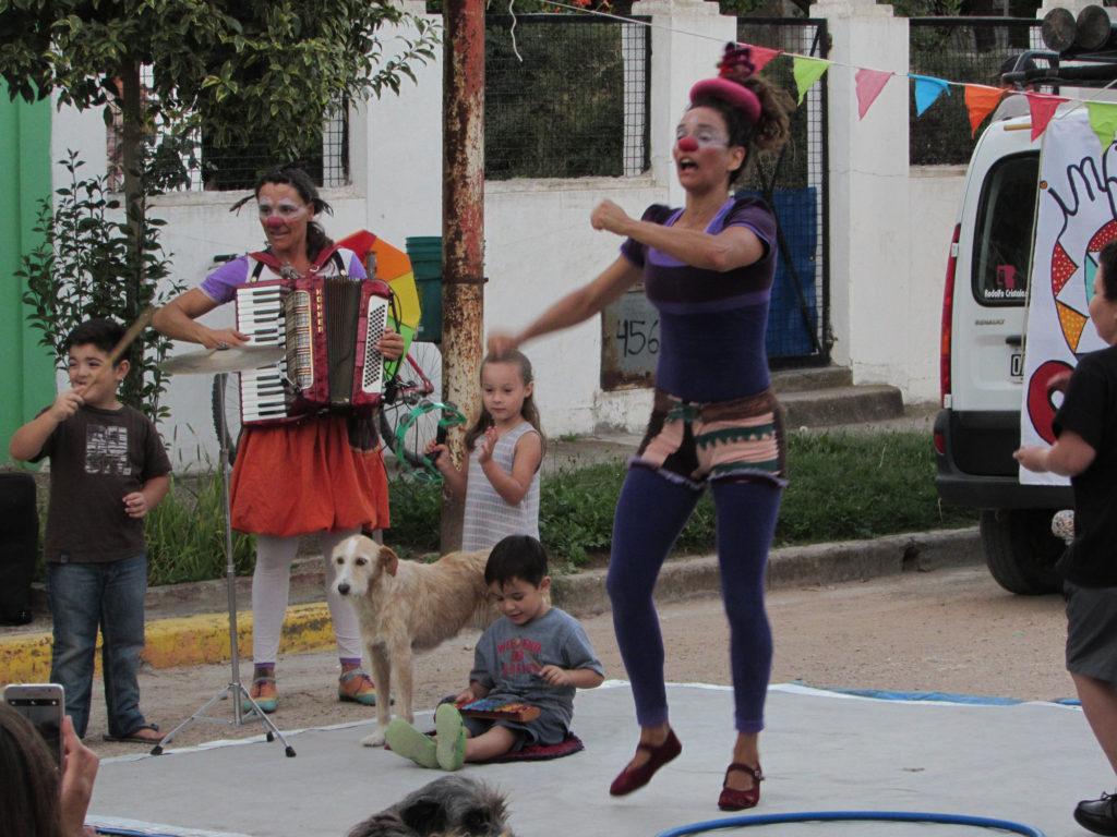 Se realiza hoy un show de circo aéreo en Carhué